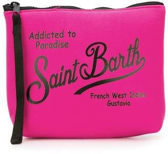 MC2 Saint Barth Kids logo print pouch
