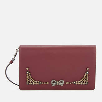 Coach Women's Selena Crystal Embellishment Cross Body Bag - Wine