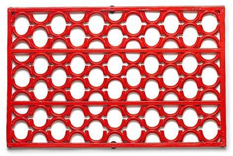 Cast Iron Doormat, Red