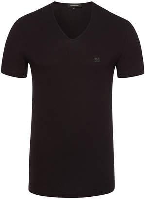 Ermenegildo Zegna Stretch Cotton V-Neck T-Shirt