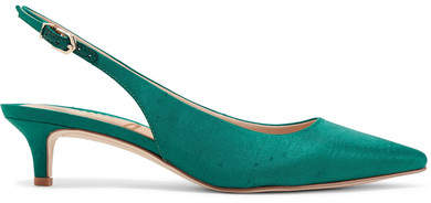Sam Edelman - Ludlow Dupion Slingback Pumps - Emerald