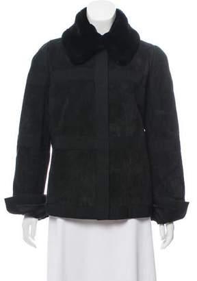 Dolce & Gabbana Fur-Trimmed Shearling Jacket w/ Tags