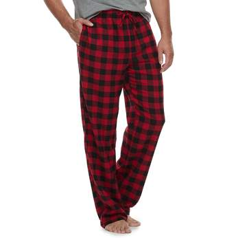 Croft & Barrow Big & Tall Plaid Flannel Lounge Pants