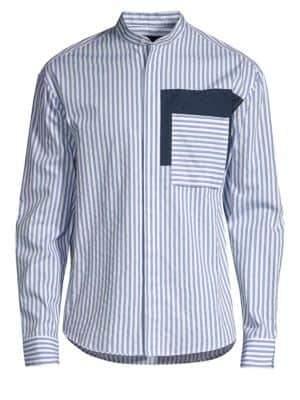 P.L.C. Men In Silhouette Stripe Cotton Shirt