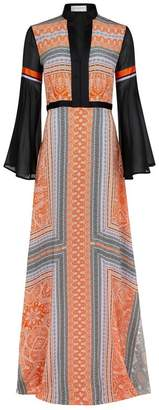 Amanda Wakeley Clementine Lilac Printed Maxi Dress