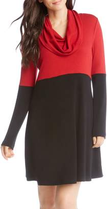 Karen Kane Colorblock Knit A-Line Dress