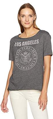 Juicy Couture Black Label Women's La Rock Emblem Graphic Tee