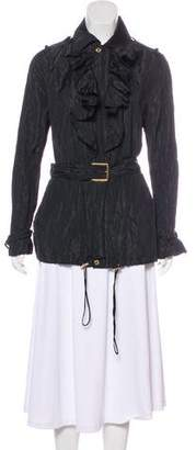Ralph Lauren Black Label Lightweight Ruffle-Accented Jacket