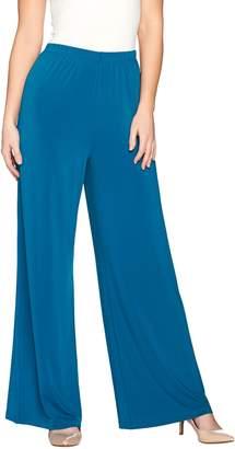 Bob Mackie Bob Mackie's Wide Leg Regular Length Knit Pants