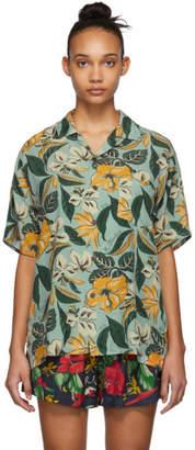 R 13 Blue Floral Hawaiian Shirt