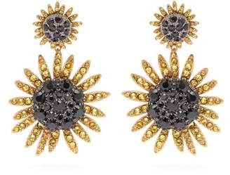 Dolce & Gabbana Sunflower Crystal Clip Earrings - Womens - Gold