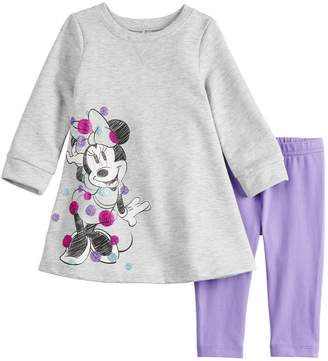Osh Kosh Disneyjumping Beans Disney's Minnie Mouse Baby Girl French Terry Swing Dress & Leggings Set