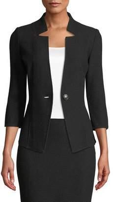 St. John Milano Knit 3/4-Sleeve Jacket