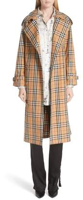 Burberry Eastheath Vintage Check Trench Coat