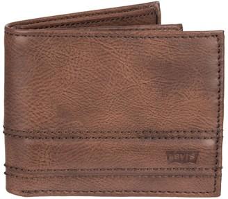 4187f4621 Levi's Levis Men's RFID-Blocking Extra-Capacity Slimfold Wallet