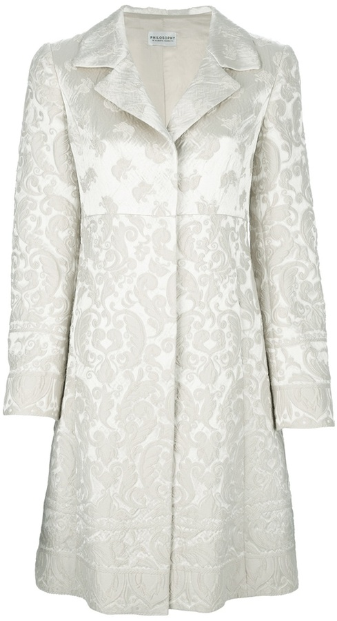 Philosophy di Alberta Ferretti brocade coat