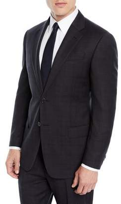 Emporio Armani Men's Plaid Two-Piece Wool Suit