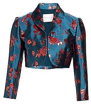 Carolina Herrera Women's Floral Cropped Bolero Jacket