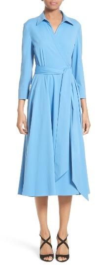 MICHAEL Michael KorsWomen's Michael Kors Stretch Cotton Poplin Wrap Shirtdress