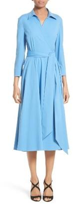 Women's Michael Kors Stretch Cotton Poplin Wrap Shirtdress $1,395 thestylecure.com