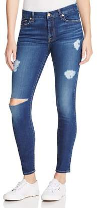7 For All Mankind b(air) Destroyed Skinny Ankle Jeans in Duchess