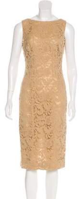 Prada Lace Midi Dress Beige Lace Midi Dress
