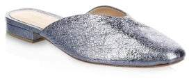 Loeffler Randall Quin Metallic Square Toe Leather Mules