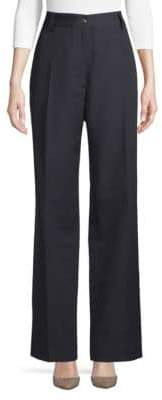 Dries Van Noten Wool High-Rise Pants