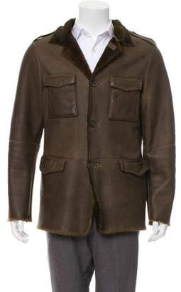John Varvatos Shearling Leather Jacket