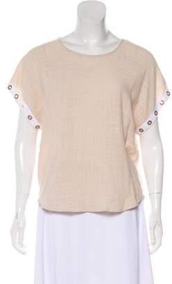 MISA Los Angeles Short Sleeve Scoop Neck Top