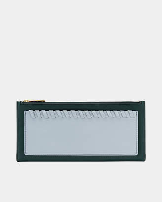 Fossil Shelby Indian Teal Clutch