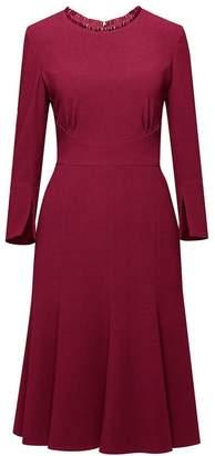 Christina Rumour London Burgundy Fluted Dress