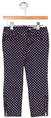 Ralph Lauren Girls' Printed Five Pocket Jeans