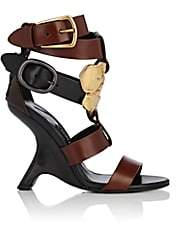 Tom Ford WOMEN'S SCULPTED-HEEL LEATHER SANDALS