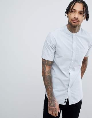 Tokyo Laundry Short Sleeve Grandad Collar Shirt