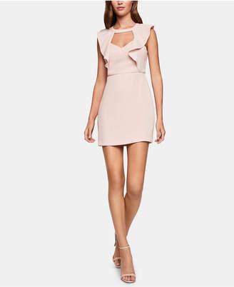 BCBGeneration Cutout Ruffled Mini Dress