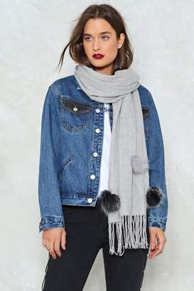 Nasty Gal Ball Over It Pom Pom Scarf