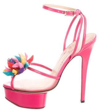 Charlotte Olympia Barbie Platform Sandals multicolor Barbie Platform Sandals