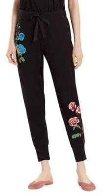 Natori Floral Embroidered Joggers