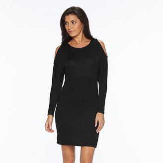 Women's Apt. 9® Cold-Shoulder Sweaterdress $40 thestylecure.com