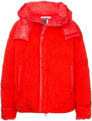 Facetasm x Woolmark crinkle-effect padded jacket