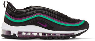 Nike Black and Purple Air Max 97 Sneakers