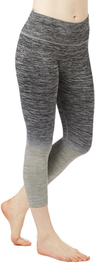 Black & Gray Ombré Active Capri Leggings