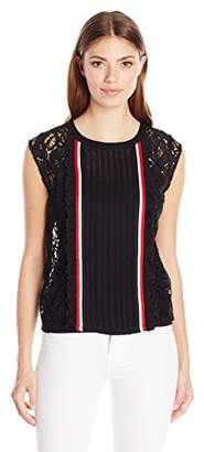 Plenty by Tracy Reese Women's Sleeveless Lace Tee