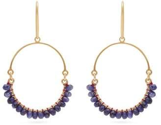 Isabel Marant Stone Embellished Hoop Earrings - Womens - Blue