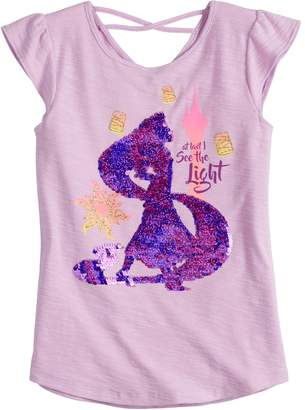 """Disneyjumping Beans Disney Princess Rapunzel Girls 4-7 """"At Last I See The Light"""" Flip Sequins Tee by Jumping Beans"""