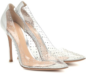 2fe57e91e7db Gianvito Rossi Exclusive to Mytheresa Plexi 105 embellished leather pumps