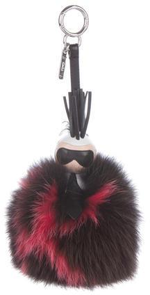 FendiFendi Super Karlito Fur Bag Charm