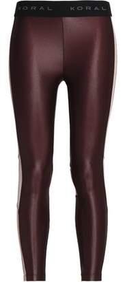 Koral Mesh-Paneled Coated Stretch Leggings