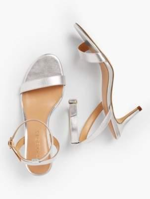 Talbots Rosalie Sandals-Metallic Nappa Leather